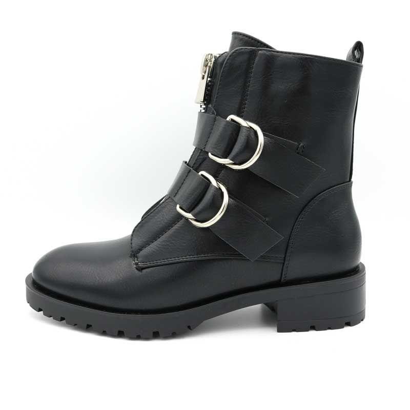 prijs waar te kopen arriveert Biker Boots Rits & Gesp / Zwart