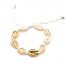 schelpen armband wit goud