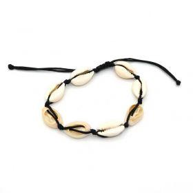 schelpjesarmband zwart